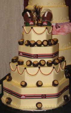 Ohio State Buckeye Wedding Cake