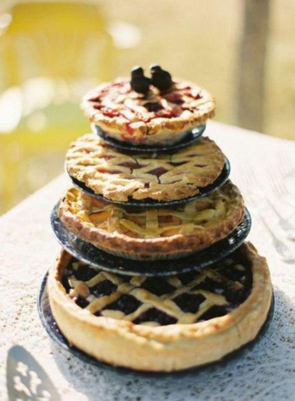 Pie Wedding Cake