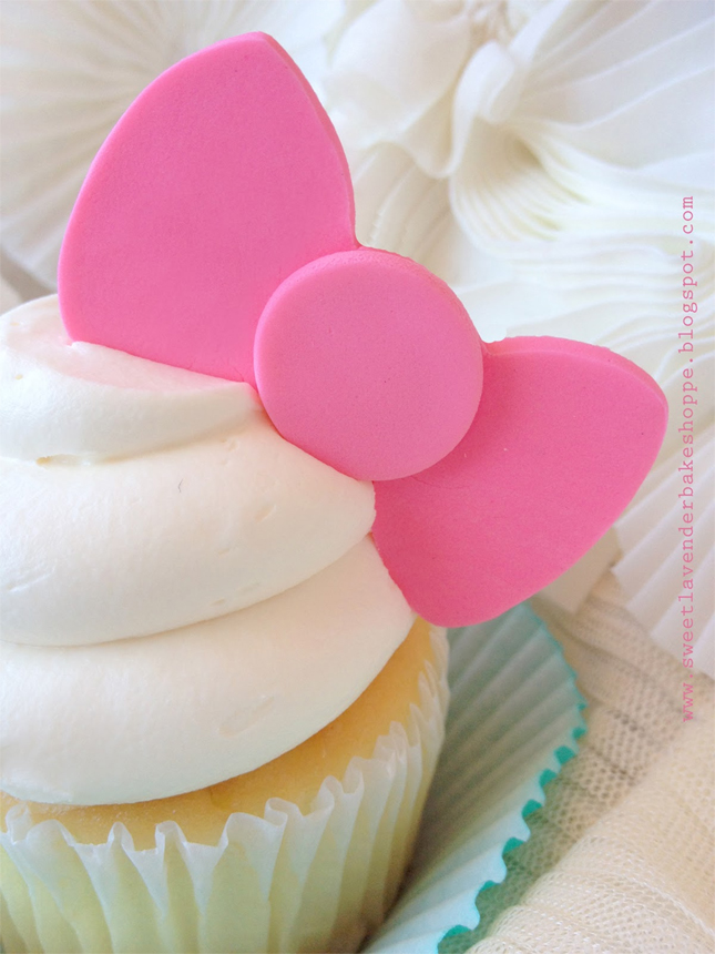Pink Edible Bows for Cupcakes