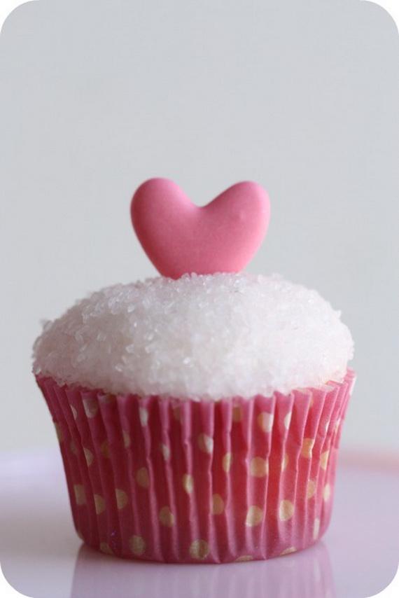 Pink Valentine Heart Cupcakes