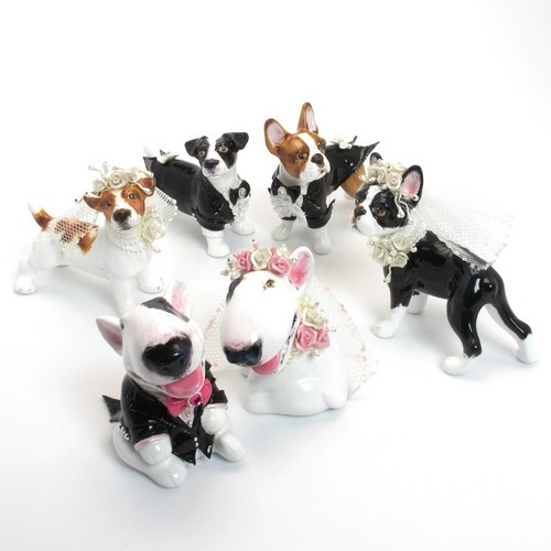 Pit Bull Wedding Cake Topper