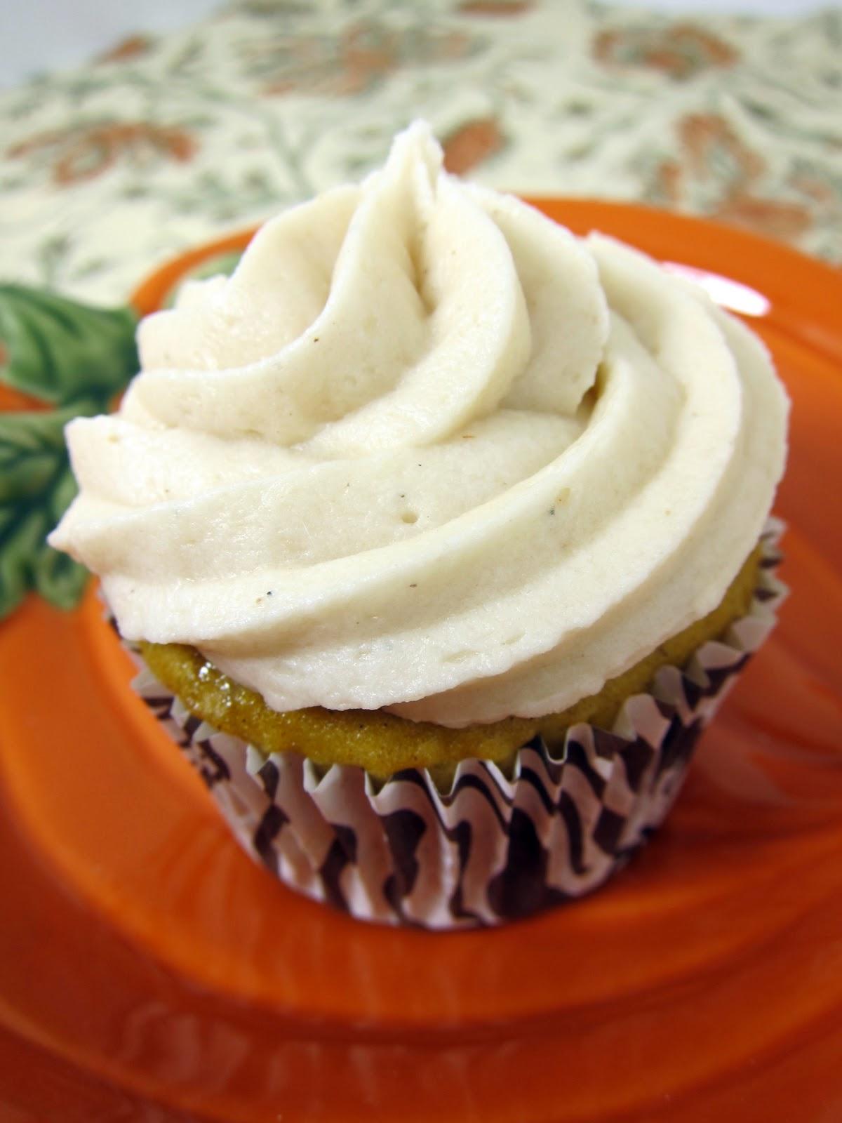 Pumpkin Cupcakes with Yellow Cake Mix