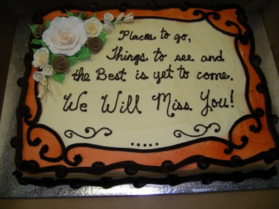 Retirement Cake Sayings