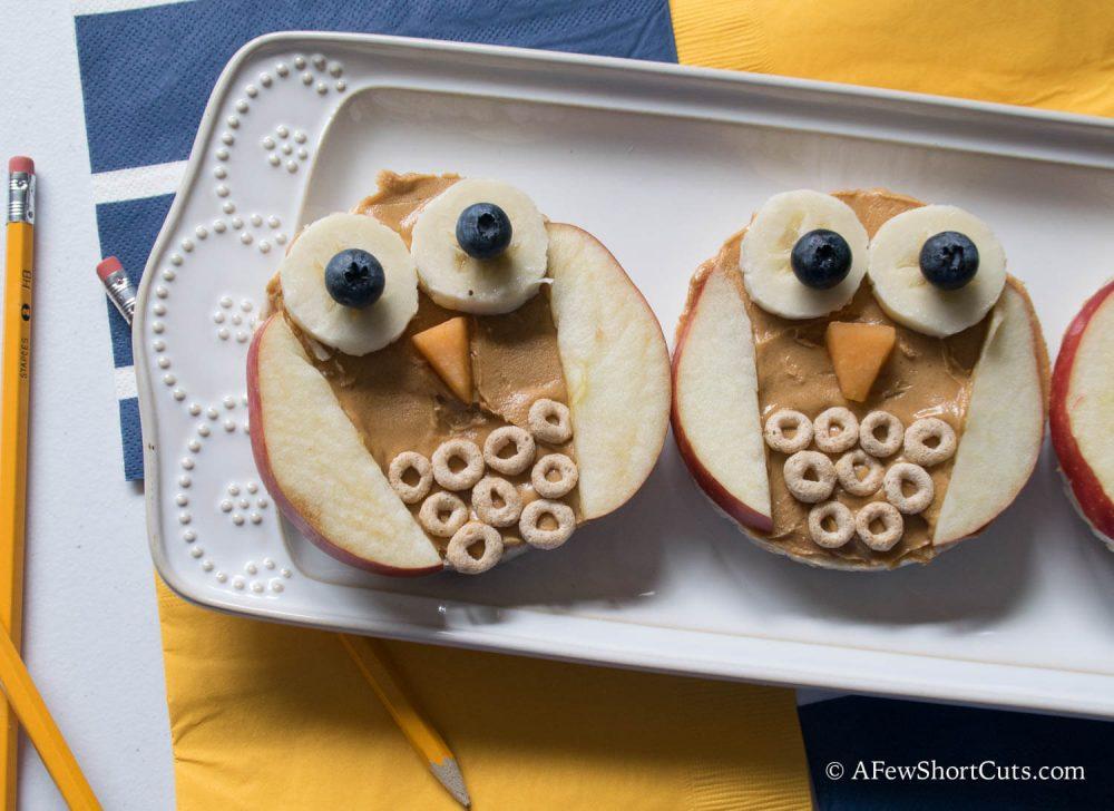 Rice Cake Owl Snacks