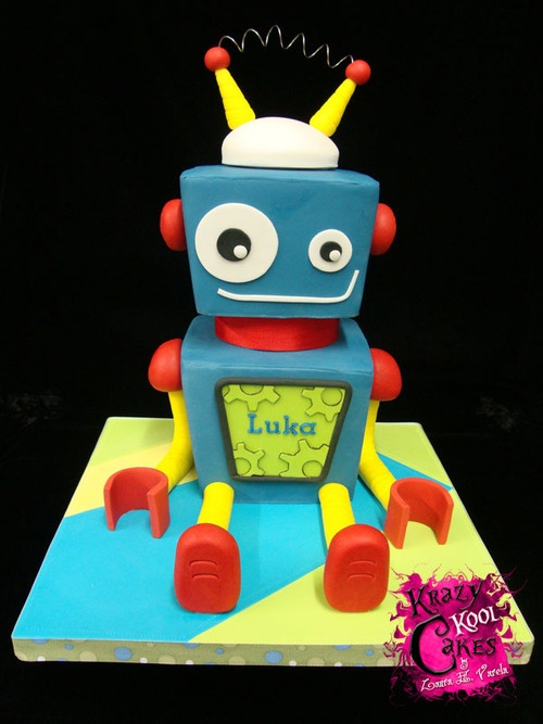 Robot Birthday Cake