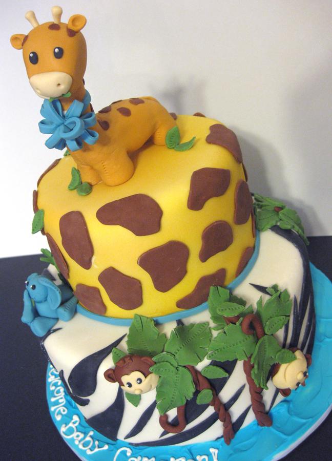13 Jungle Cakes For Boys Photo Safari Theme Baby Shower Cake Baby