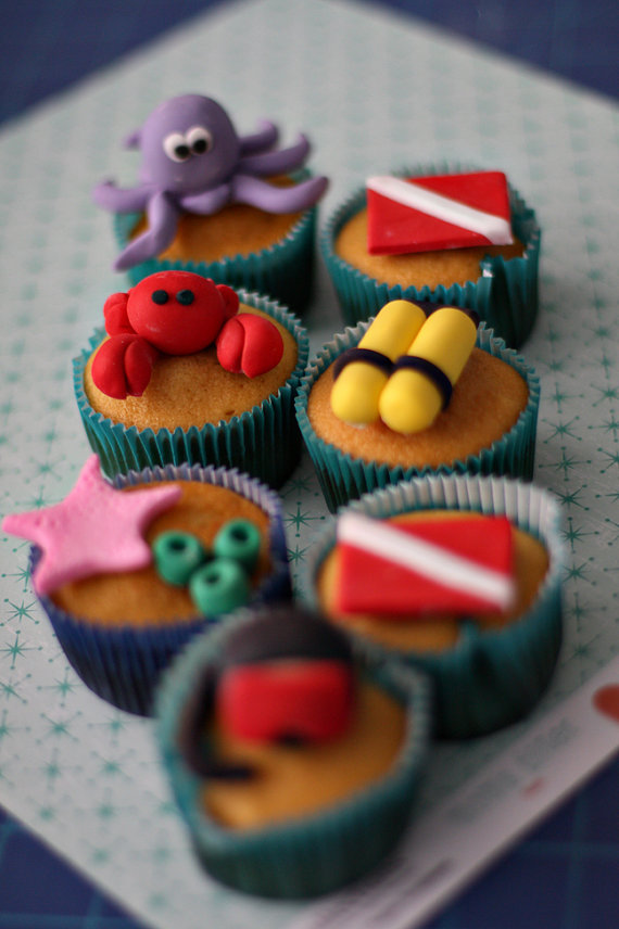 Sea Creature Fondant Cake Decorations