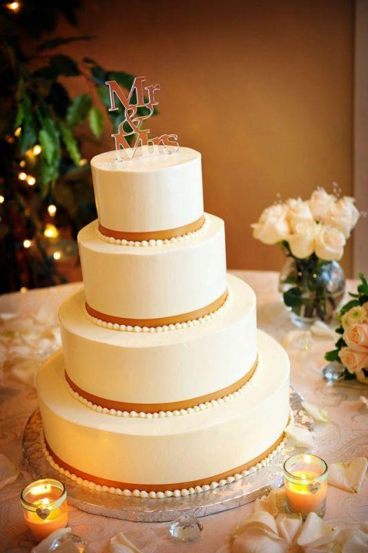 Simple Buttercream Wedding Cake
