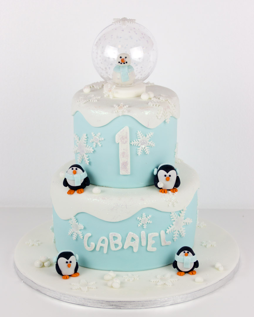 Snow Globe Birthday Cake