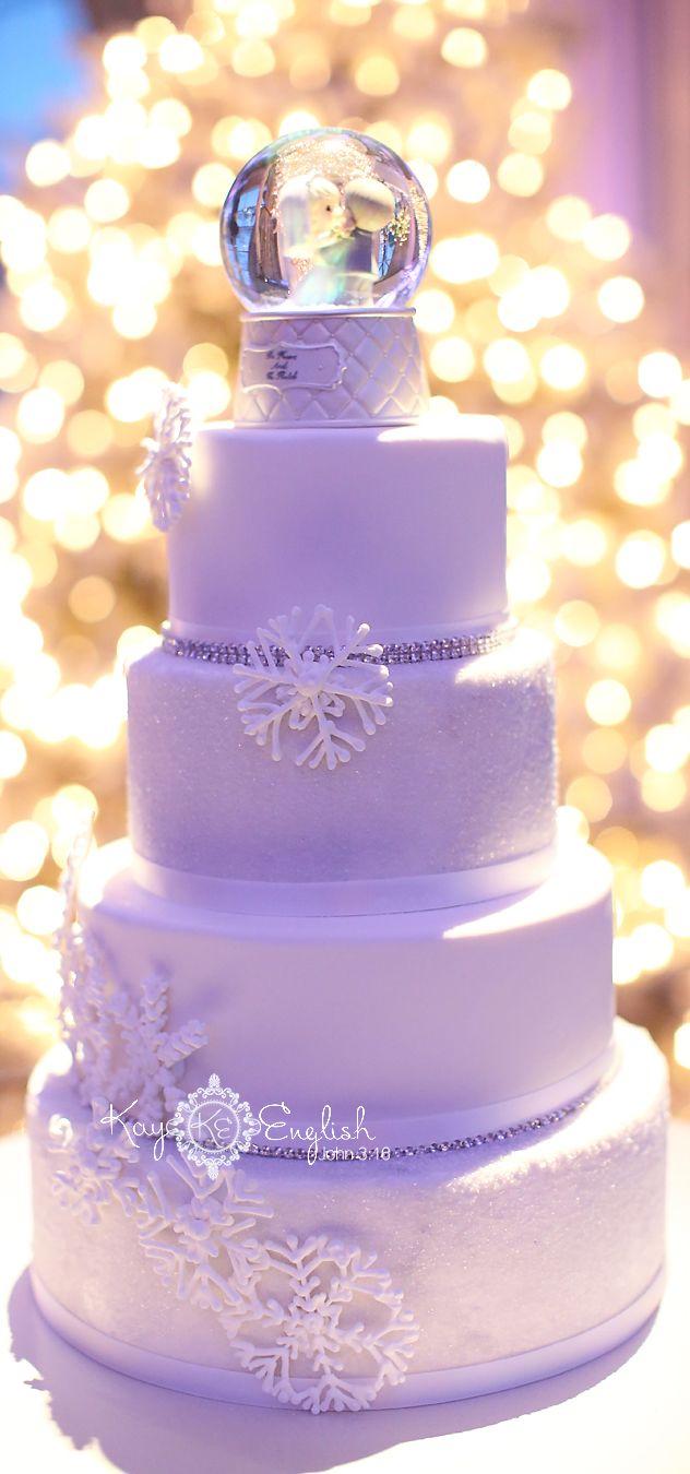 Snow Globe Wedding Cake Topper