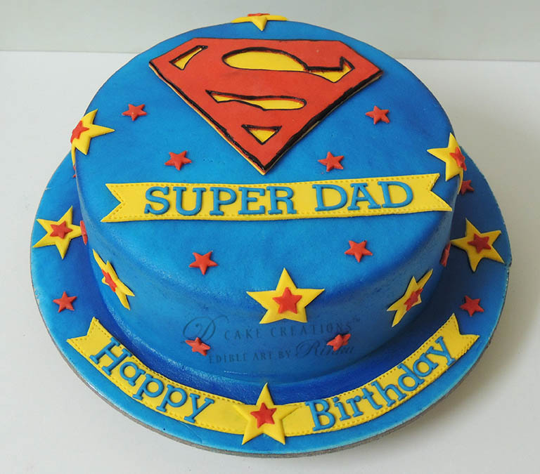 Super Dad Birthday Cake