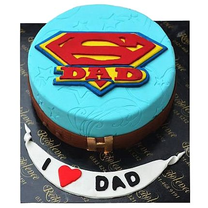 Super Dad Birthday Cake