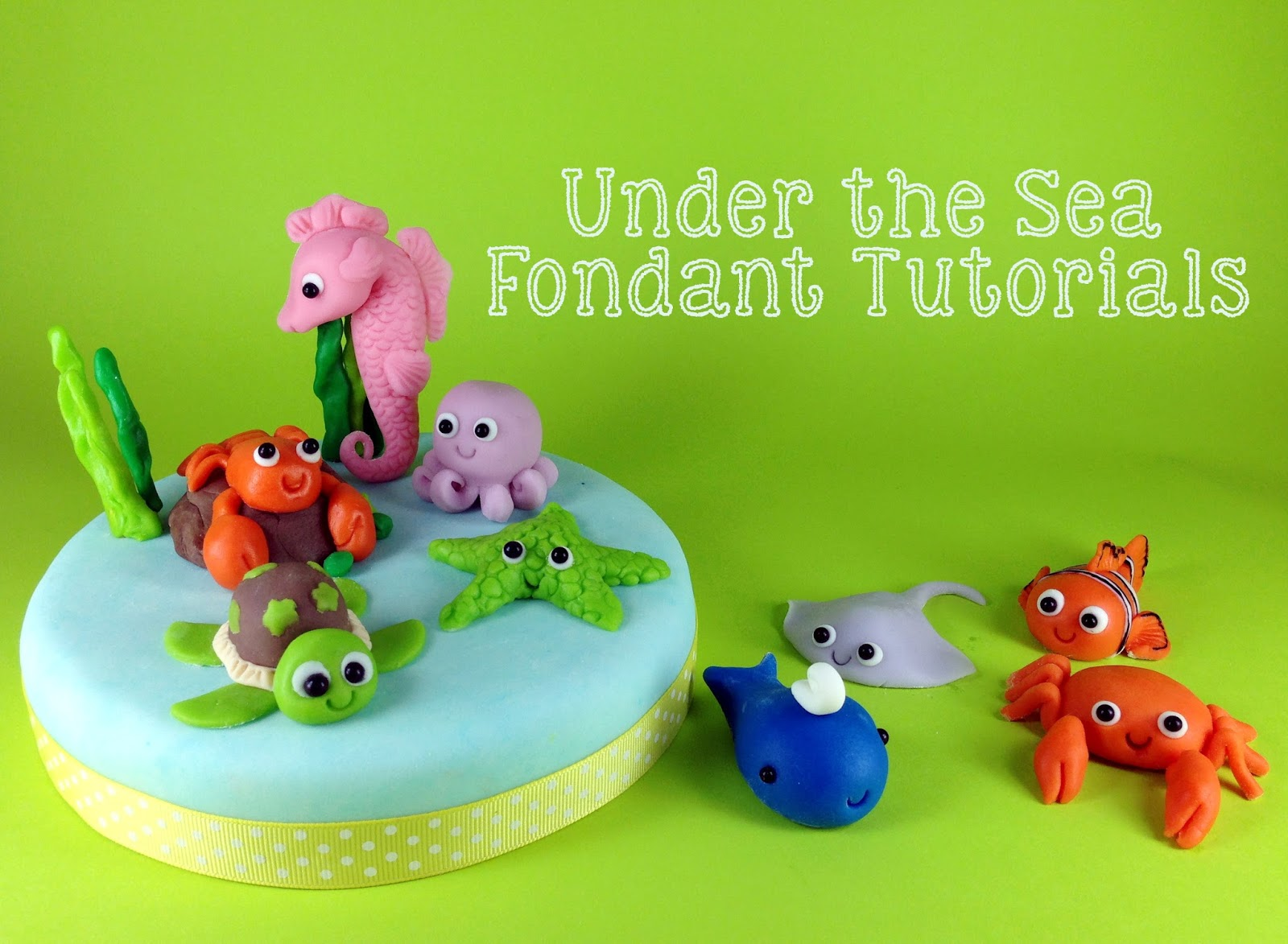 Under the Sea Fondant Cake Toppers