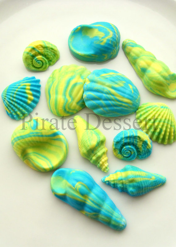 Under the Sea Fondant Cupcake Toppers