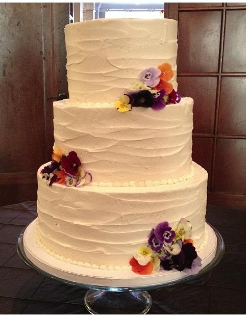Vintage Buttercream Wedding Cake