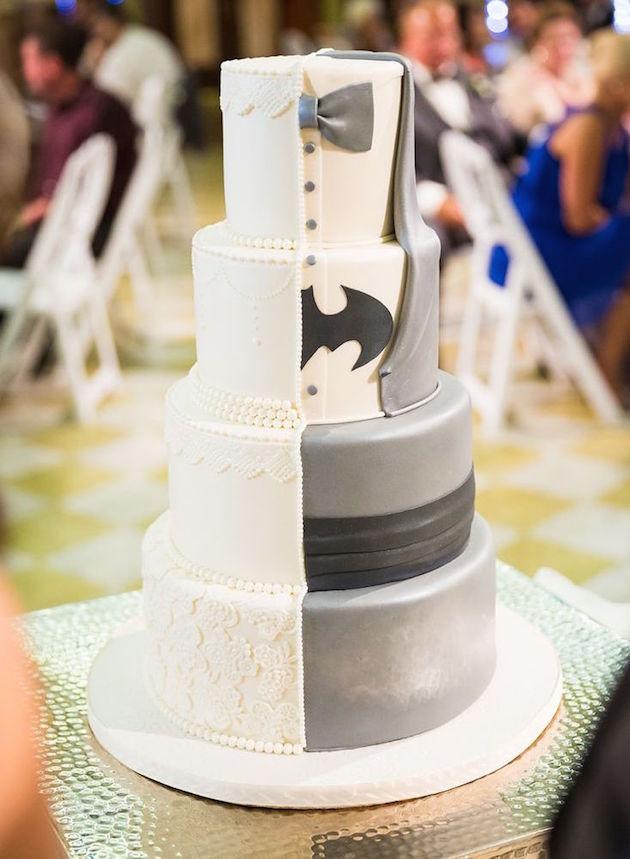 Wedding Cake Half Bride and Groom