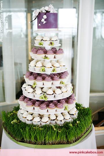 Wedding Cake with Cupcake Tier