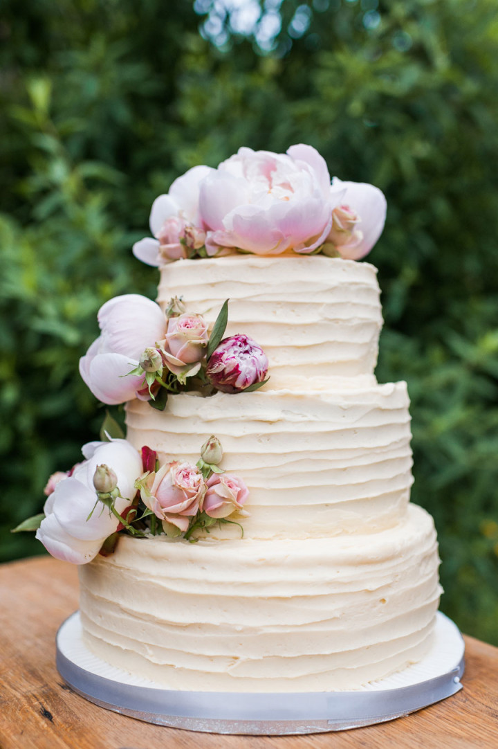 Wedding Cake with Peony