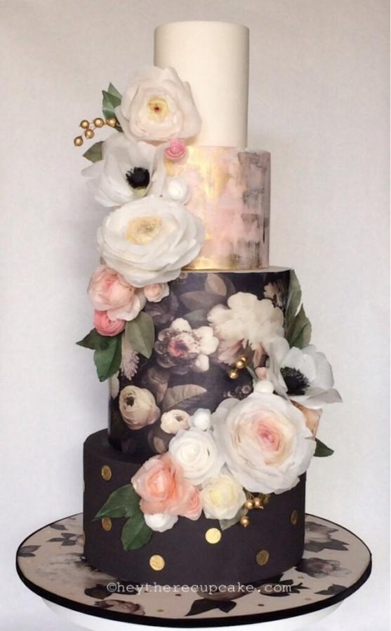 Wedding Cake with Wafer Paper