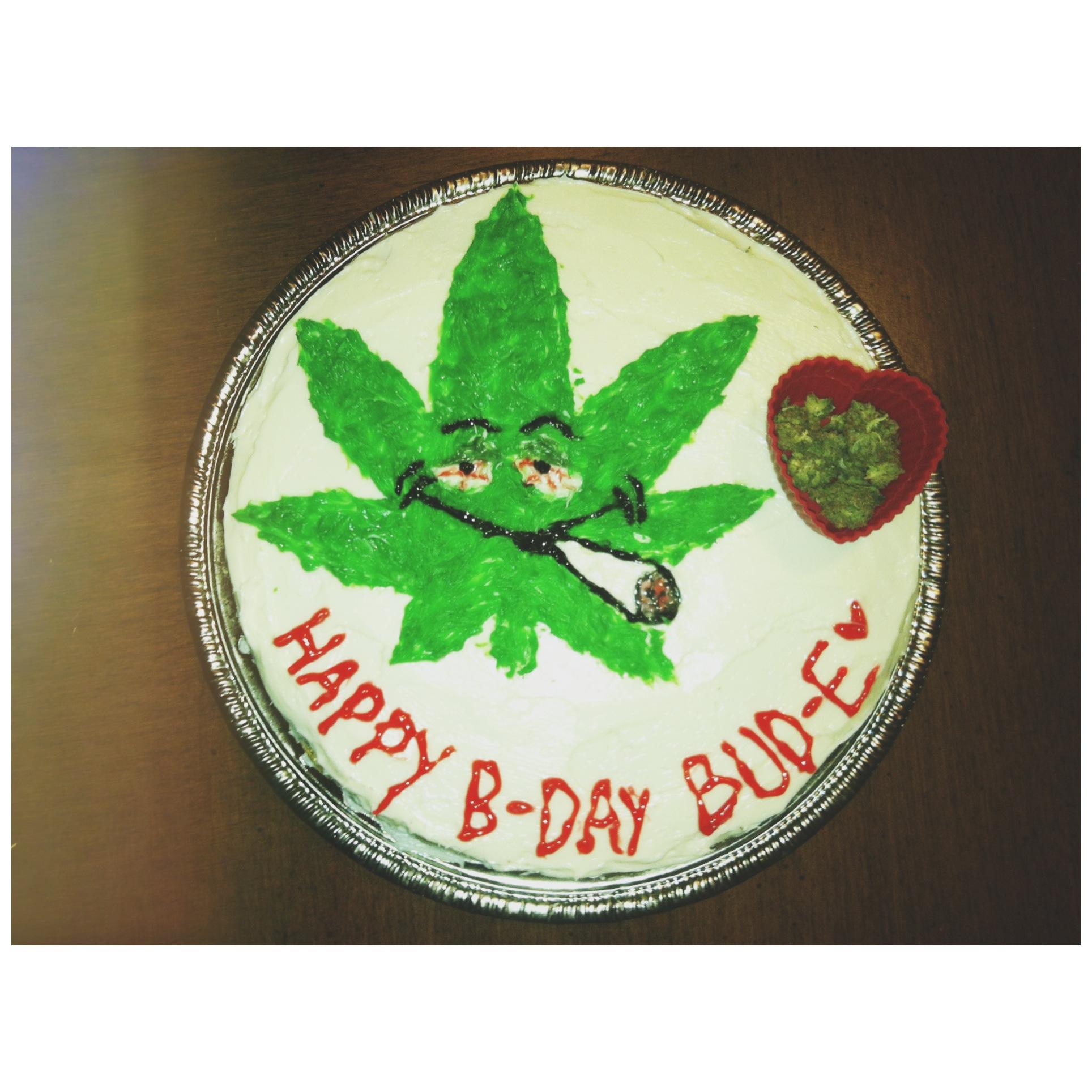 Weed Birthday Cake