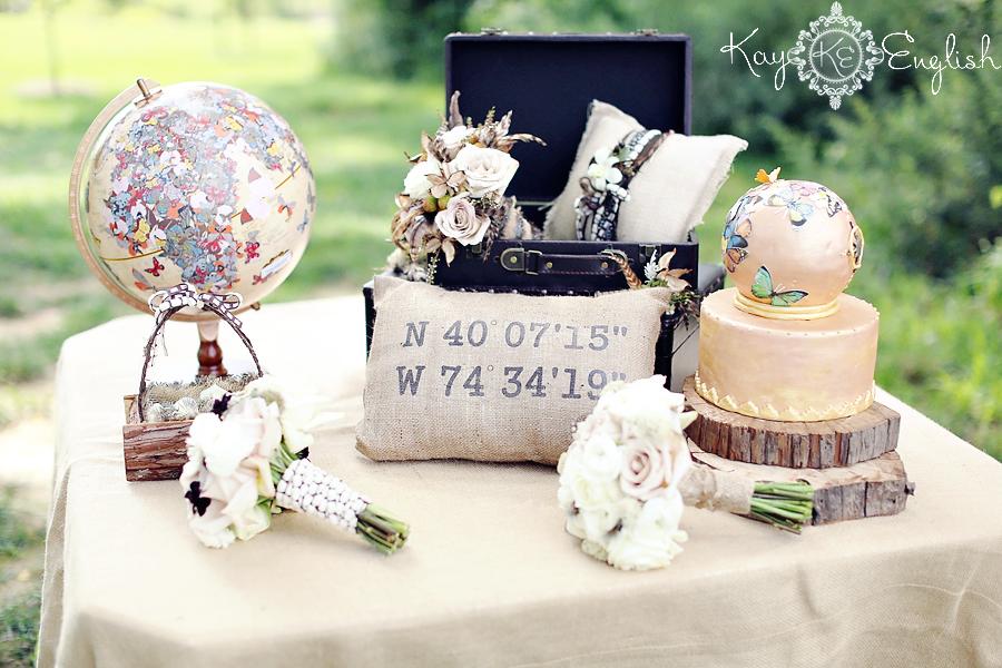 World Globe Wedding Cake Toppers