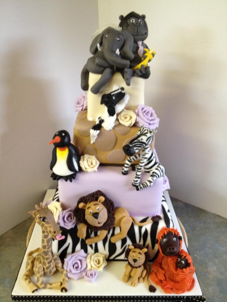 Zoo Animal Wedding Cake