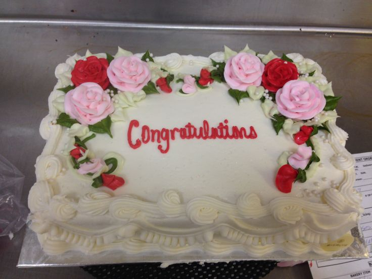 1 4 Sheet Cake with Pastel Roses