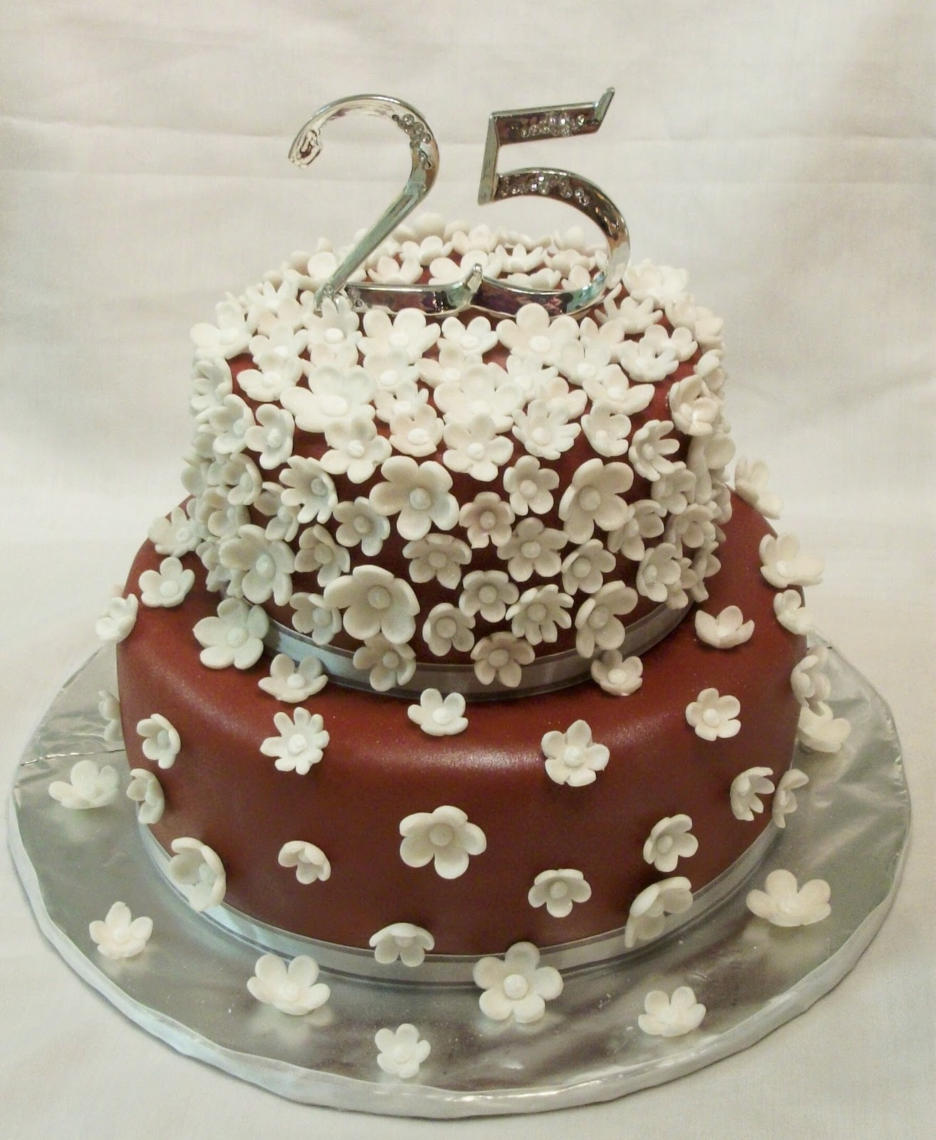 25th Wedding Anniversary Cake Designs