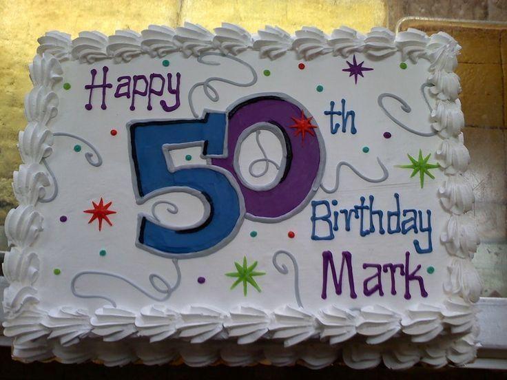 50th Birthdays Sheets Cakes Idea