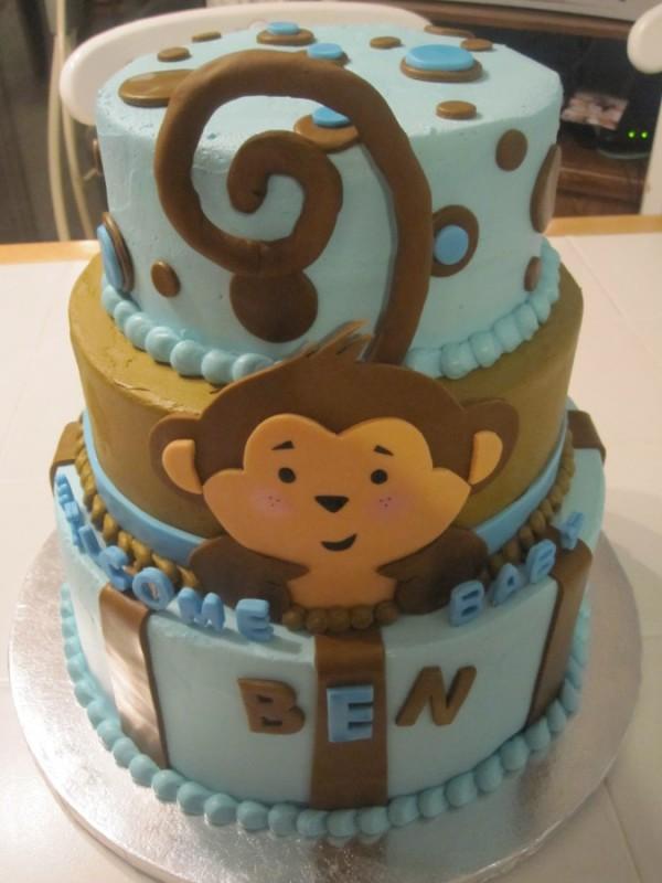 12 Photos of Pinterest Monkey Baby Cakes