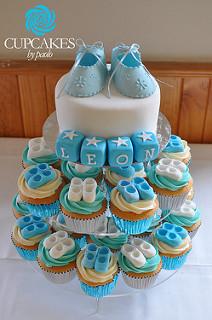 Baby Shower Cupcake Tower Cake
