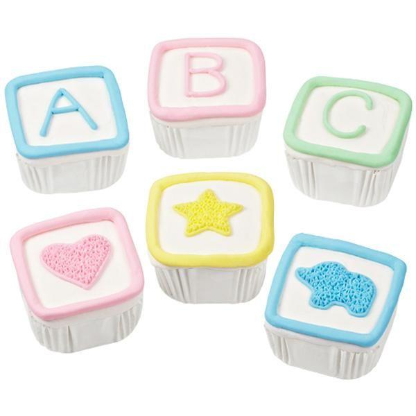 Baby Shower Cupcakes Blocks