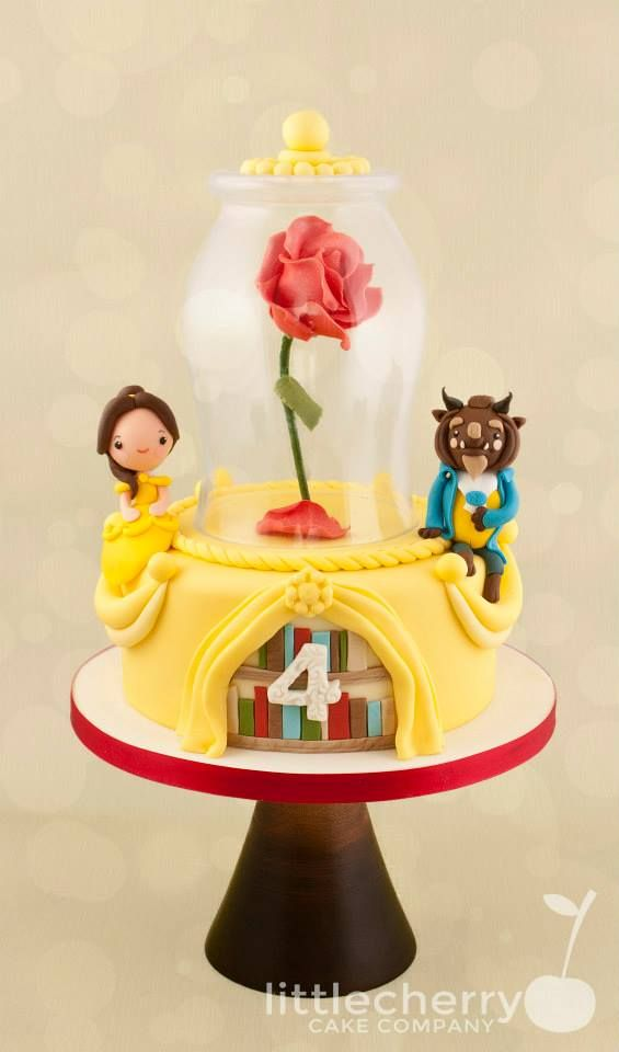 Beauty and Beast Birthday Cake