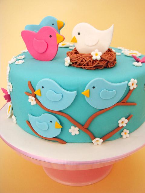 8 Photos of Cute Bird Cakes