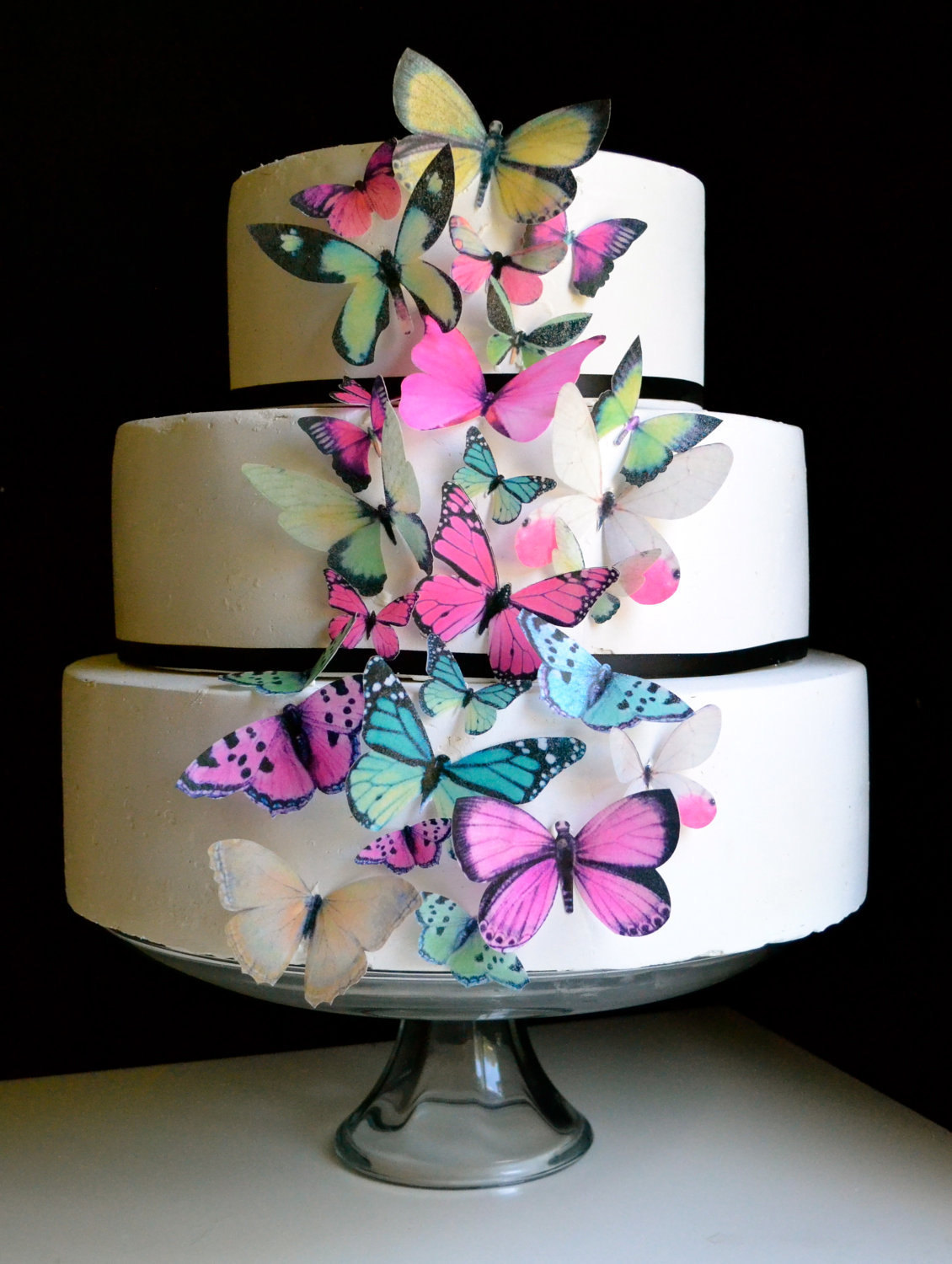 Birthday Cake with Butterflies