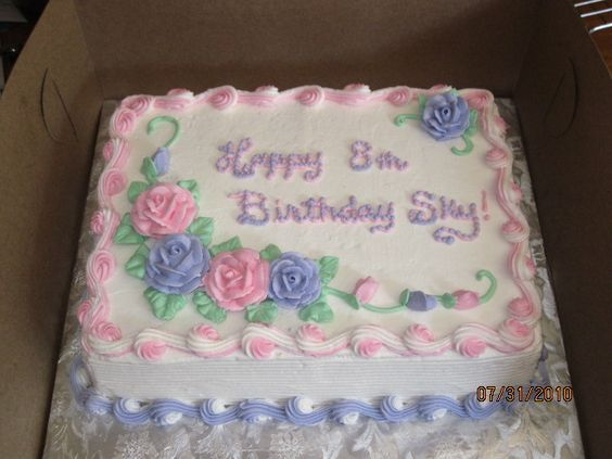 Birthday Sheet Cakes with Roses
