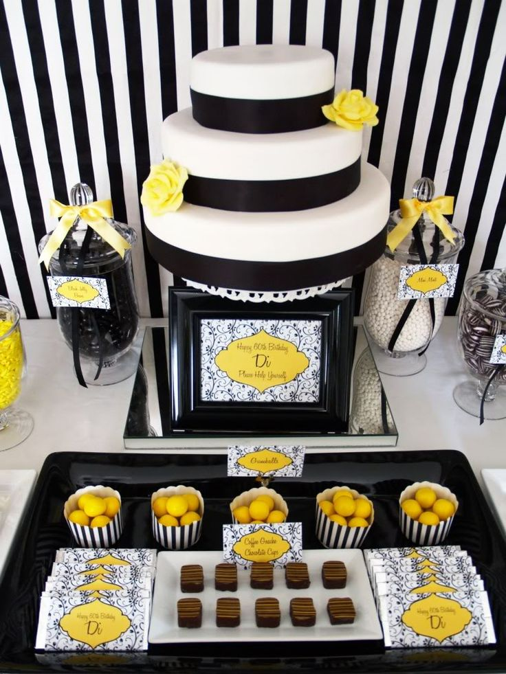 Black and White 60th Birthday Party Ideas