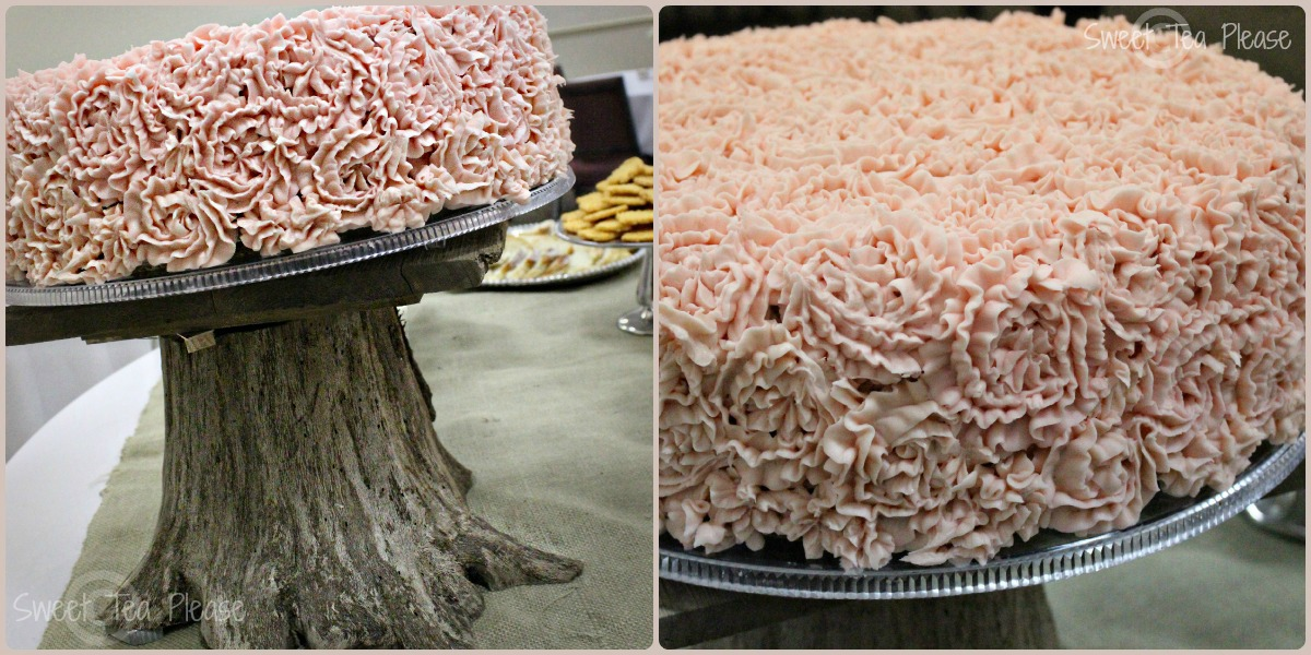 Burlap and Lace Bridal Shower Cake Ideas