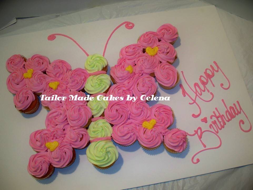 Butterfly Cupcake Cake Ideas