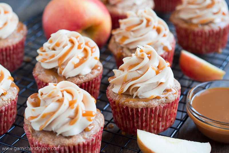 Caramel Apple Cupcakes with Frosting