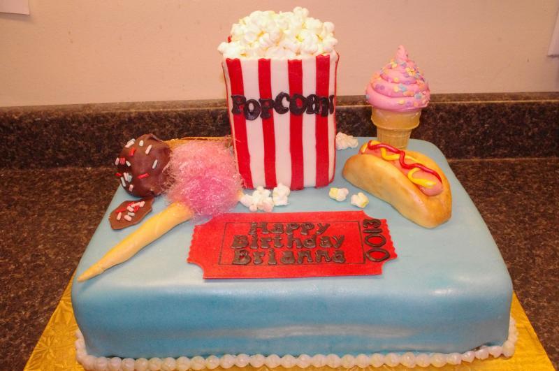 Carnival Birthday Sheet Cake