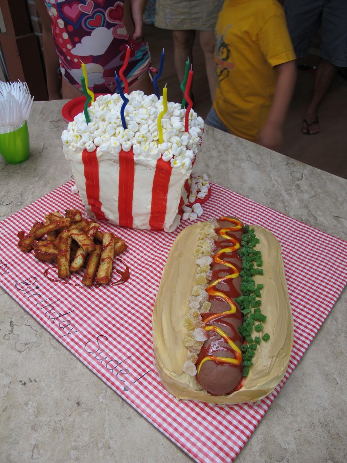 Carnival Popcorn Birthday Cake