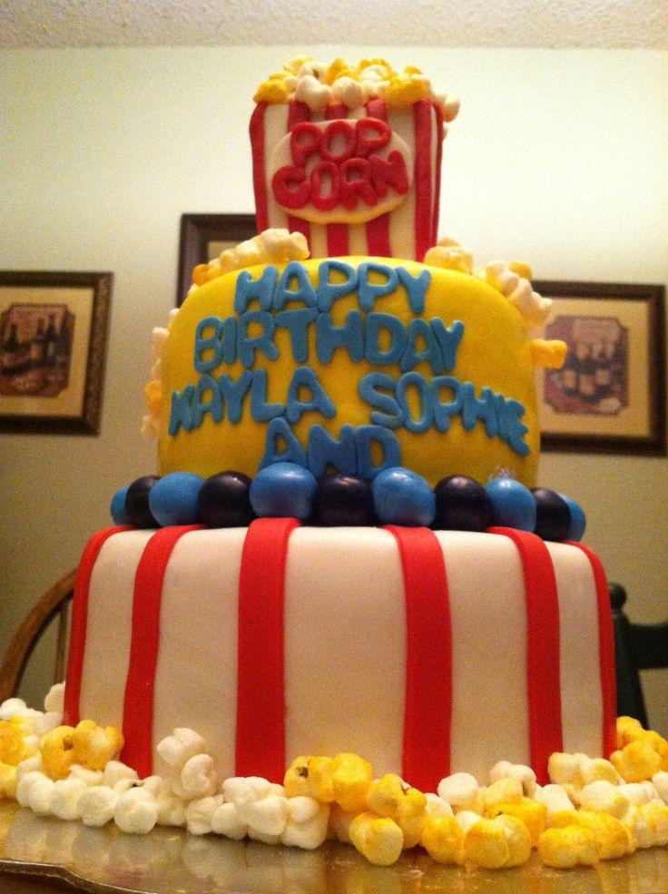 Carnival Popcorn Cake With