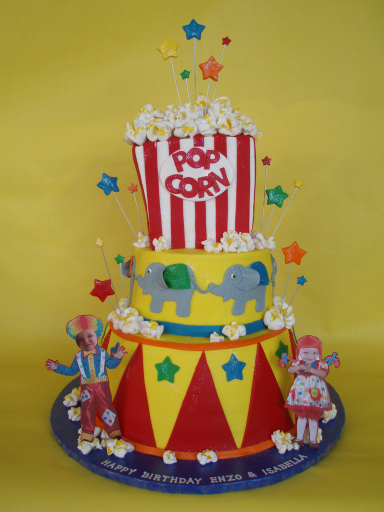 Carnival Themed Birthday Party Cake