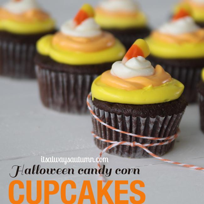 Corn Candy Cupcakeshalloween