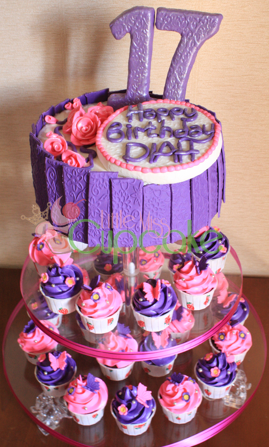 Cupcake Birthday Cakes for Girls
