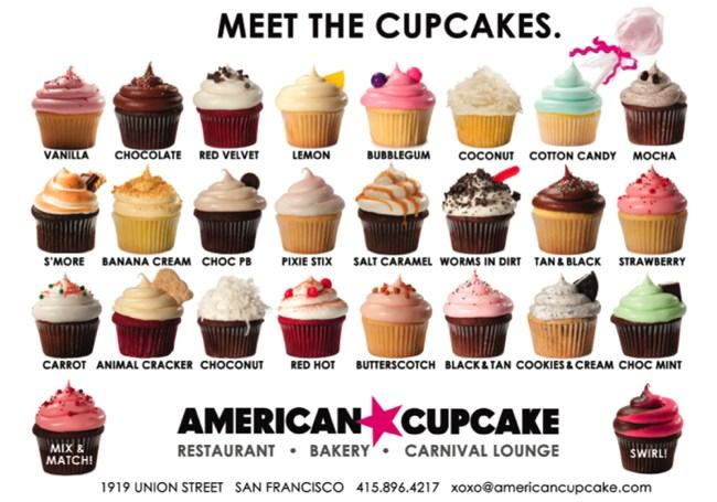 Cupcake Flavors List