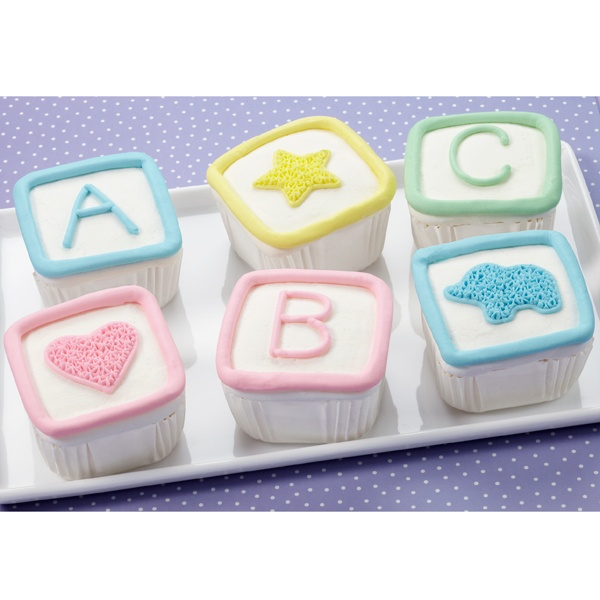 Cupcakes Baby Shower Block Cake