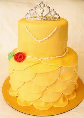 Disney Belle Birthday Cake