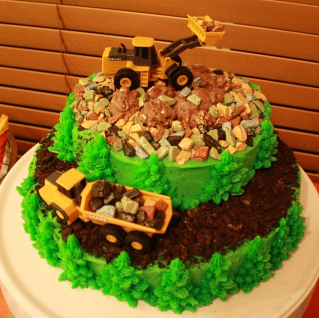12 Photos of Digger And Dump Truck Cakes